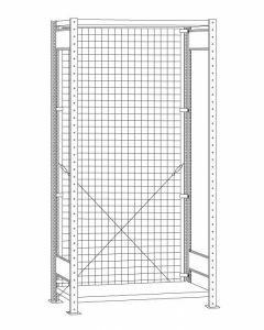 Drahtgitter Rückwand Stecksystem, inkl. Befestigung, H3500xB1200 mm, glanzverzinkt