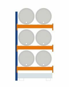 Fassregal - für stehende und liegende Lagerung, Anbauregal