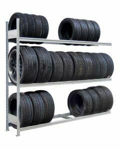 Räder-/Reifenregal, Anbauregal, H2750xB2000xT400 mm, Fachlast 400 kg, Feldlast 1600 kg, verzinkt