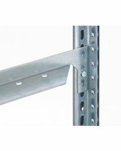 Längenriegel für Fachbodenregale und Schrägbodenregale, Längenriegel mit 40 mm Kante, 750 mm Länge, Schrägbodenregal Anbringung vorne