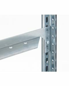 Längenriegel für Fachbodenregale, 25 mm Kante, 1300 mm Länge, verzinkt