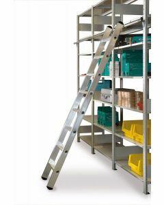 Aluminium-Regalleiter - einhängbar, Leiterlänge 2,19 m - Schulte Lagertechnik