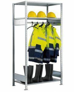 Garderobenregal, Grundfeld, 3 Multiplus Fachböden, H2000xB750xT600 mm