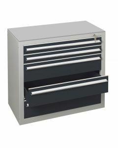Schubladenblock, H1100xB1000xT500mm, RAL 7016 anthrazit
