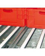Röllchenleiste für Bereitstellregale verzinkt Art.-Nr.: 33012