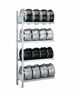 Felgenregal, Anbauregal, H2000xB1000xT300 mm, Fachlast 150 kg, Feldlast 1300 kg, verzinkt