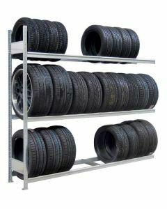 Räder-/Reifenregal, Anbauregal, H3500xB1500xT400 mm, Fachlast 400 kg, Feldlast 2000 kg, verzinkt