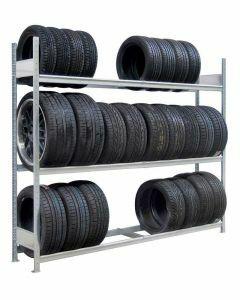 Räder-/Reifenregal, Grundregal, H3500xB1500xT400 mm, Fachlast 400 kg, Feldlast 2000 kg, verzinkt