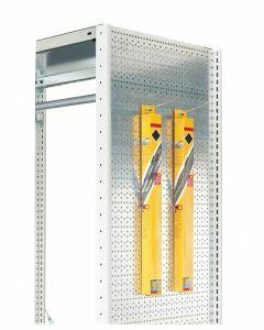 Euro-Lochblech-Seitenwand, H1000xT500mm, sendzimirverzinkt