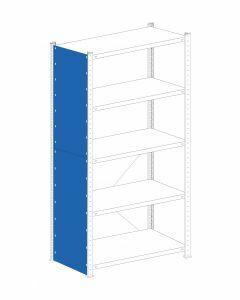 Vollblechseitenwand Stecksystem, inkl. Befestigung (Schrauben), H2750xT500 mm, RAL 5010 enzianblau