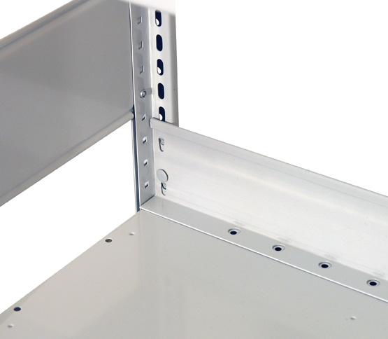 Schüttgutleiste, H90xB750mm, Kantenhöhe 25mm, sendzimirverzinkt