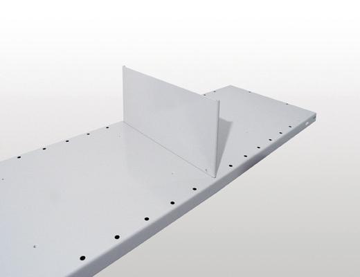 Stecktrennblech - freistehend, H140xT300mm, Kantenhöhe 25mm, RAL 7035 lichtgrau