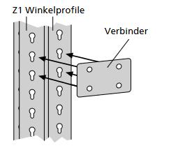 Z1 Weitspannregal Verbinder