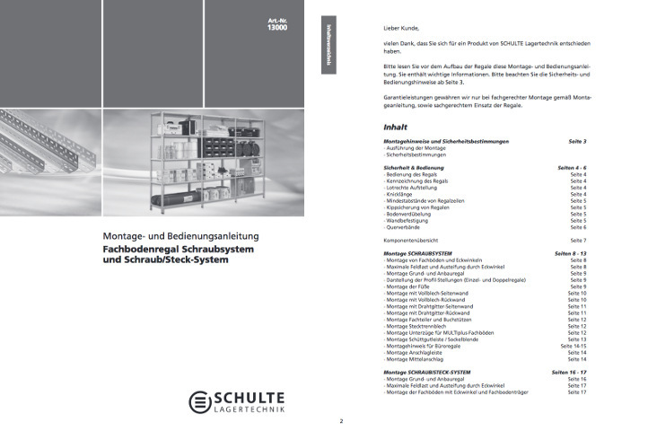 Schraubregal Montageanleitung